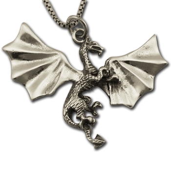 Dragon Pendant in Sterling Silver
