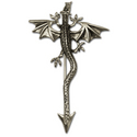 Dragon Pin in Sterling Silver