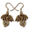Dragon Earrings in 14k Gold