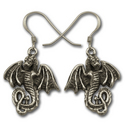 Dragon Earrings in Sterling Silver