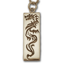 Dragon Tag Pendant in 14k Gold