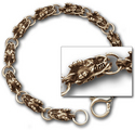 Dragon Link Bracelet in 14k Gold