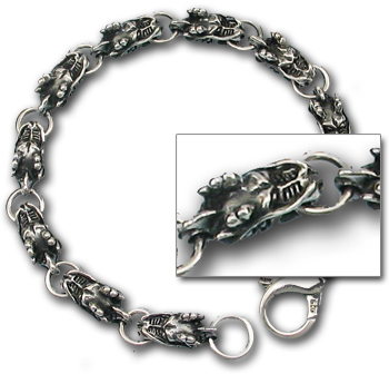Dragon Link Bracelet in Sterling Silver