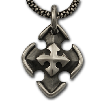 Maltese Cross Pendant in Sterling Silver