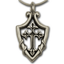 Shielded Cross in Sterling Silver