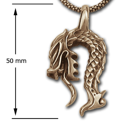 Dragon Pendant in 14k Gold