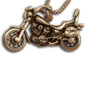 Motorcycle Pendant in 14K Gold