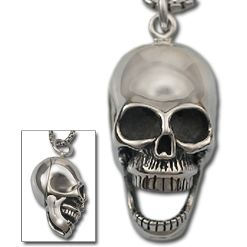 Skull Pendant in .925 Sterling Silver