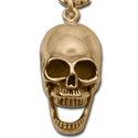 Skull Pendant in 14k Gold
