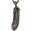 Eagle Feather in Sterling Silver