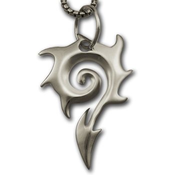 Flame Pendant in Sterling Silver
