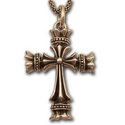 Royal Cross Pendant 14K Gold