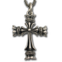 Royal Cross Pendant in Sterling Silver