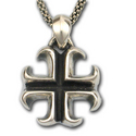 Maltese Cross Pendant in .925 Sterling Silver