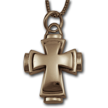 Double Cross Pendant in 14K Gold