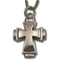 Double Cross Pendant in .925 Sterling Silver