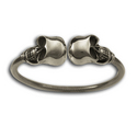 Double Skulls Flex bangle in Sterling Silver