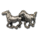 Two Horses Pin in Sterling Silver