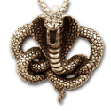 King Cobra Pendant in 14k Gold