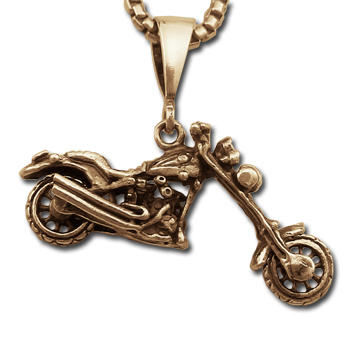 Chopper Pendant in 14K Gold