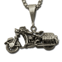 Vintage Mototcycle Pendant in Sterling Silver