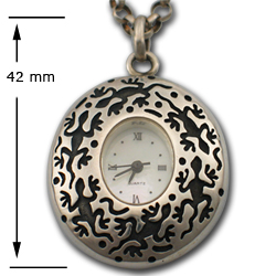 Watch Pendant in Sterling Silver
