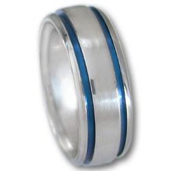 Titanium Ring w/ Blue Oxide