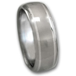 Titanium Ring w/ Platinum Inlays