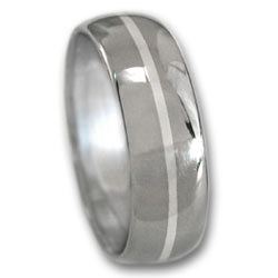 Titanium Ring w/ Platinum Inlay