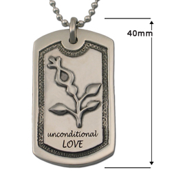 Unconditional Love Dog Tag in .925 Sterling
