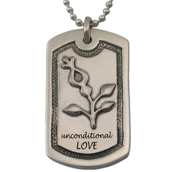 Unconditional Love Dog Tag in Pewter
